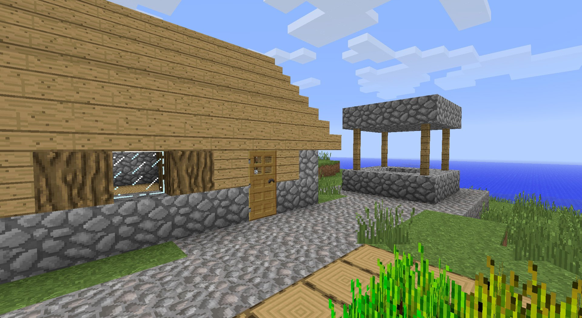 ... is a more detailed 32×32 version of the default Minecraft textures: www.minecrafttexturepacks.com/faithful
